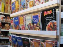 Koreanische, chinesische, japanische und thailändische Lebensmittel